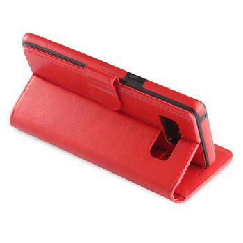 For Samsung Galaxy Note 8 Case Premium Leather Pouch with Detachable Back Cover - RED