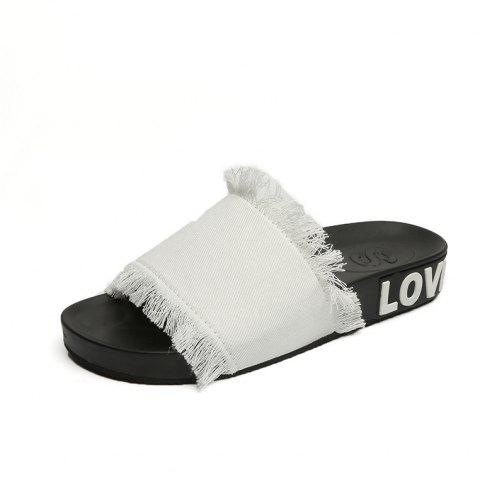 04eb911ac 2019 A Simple All-match Fashion Slippers In WHITE 39