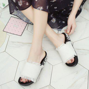 A Simple All-match Fashion Slippers - WHITE 41