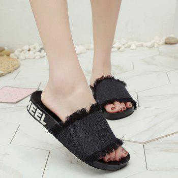 A Simple All-match Fashion Slippers - BLACK 41
