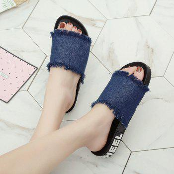 A Simple All-match Fashion Slippers - BLUE 41