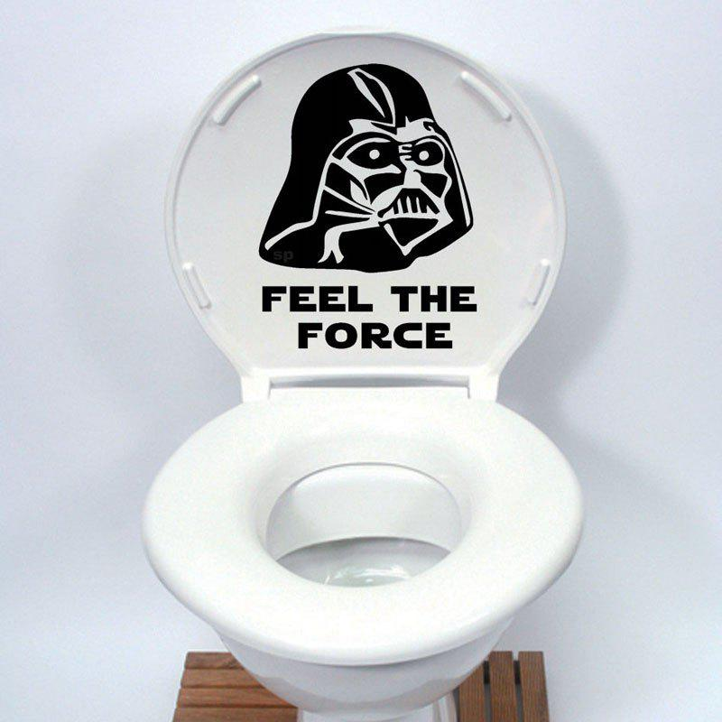 DSU Star Wars Toilet Seat Sticker Funny cartoon Vinyl Decal Home Decor dsu creative peeping elves decorative door or wall sticker vinyl decal home decor