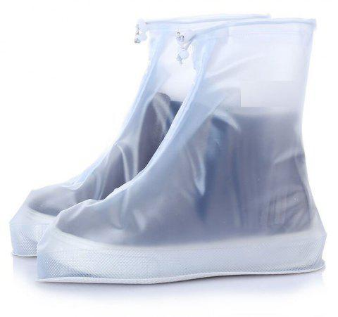 Fashion Waterproof Women Men Rain Snow Boots Shoes Covers for Outdoor Fishing - TRANSPARENT SIZE(44-45)