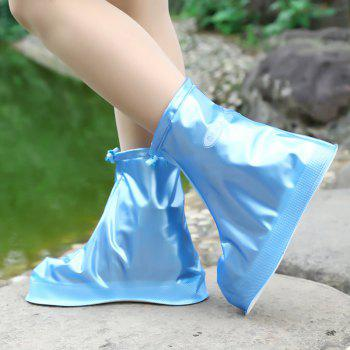Fashion Waterproof Women Men Rain Snow Boots Shoes Covers for Outdoor Fishing - BLUE RIBBON SIZE(44-45)