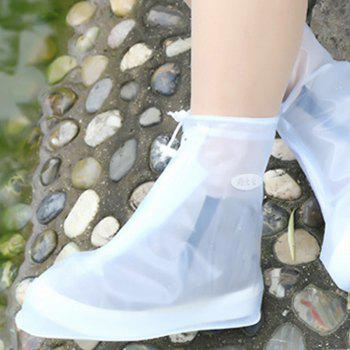 Fashion Waterproof Women Men Rain Snow Boots Shoes Covers for Outdoor Fishing - TRANSPARENT SIZE(40-41)