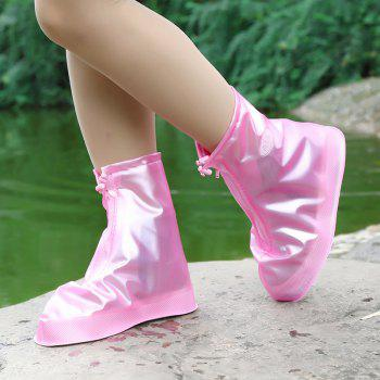 Fashion Waterproof Women Men Rain Snow Boots Shoes Covers for Outdoor Fishing - BLOSSOM PINK SIZE(36-37)