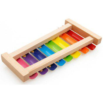Wooden Eight Tone Percussion Instrument Toys for Children - multicolor
