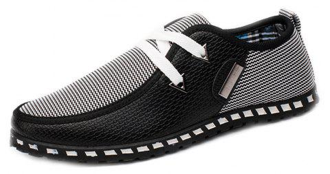Men New Style Comfortable Casual Shoes Breathable Sneakers - BLACK 43