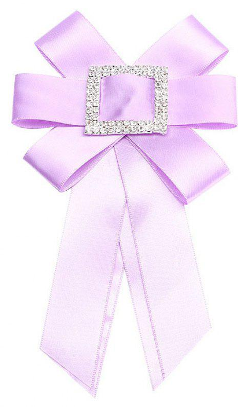 Crystal Bowknot Ribbon Pin Deserve to Act The Role of Women Fashion Cloth brooch - COTTON CANDY