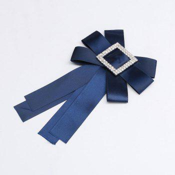 Crystal Bowknot Ribbon Pin Deserve to Act The Role of Women Fashion Cloth brooch - ROYAL BLUE