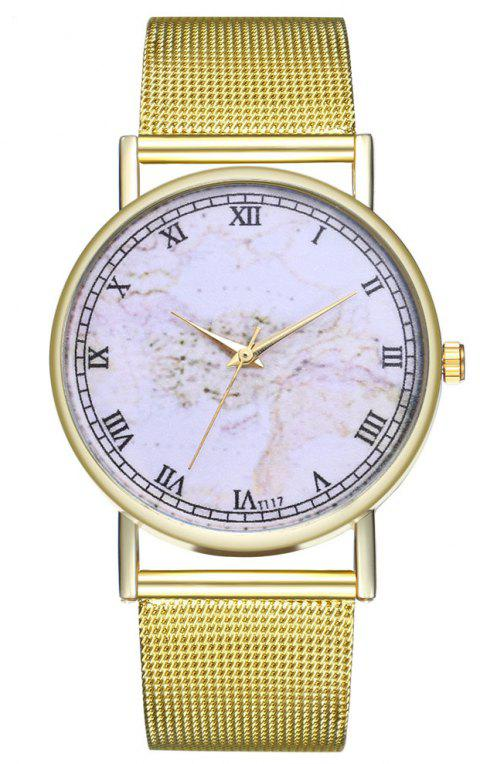 ZhouLianFa T117 Fashion Geography Digital Pattern Quartz Watch - GOLD