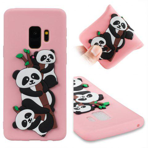 TPU Case for Samsung Galaxy S9 3D Panda Pattern - PINK