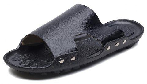 2d4ad8df924 LIMITED OFFER  2019 Fashion Genuine Leather Men Casual Slippers In ...