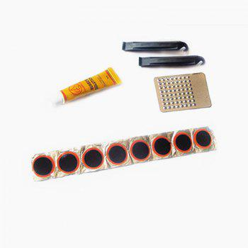 Bicycle Tire Repair Kit 2 Pieces with 8 Inner Tube Tablets - WHITE