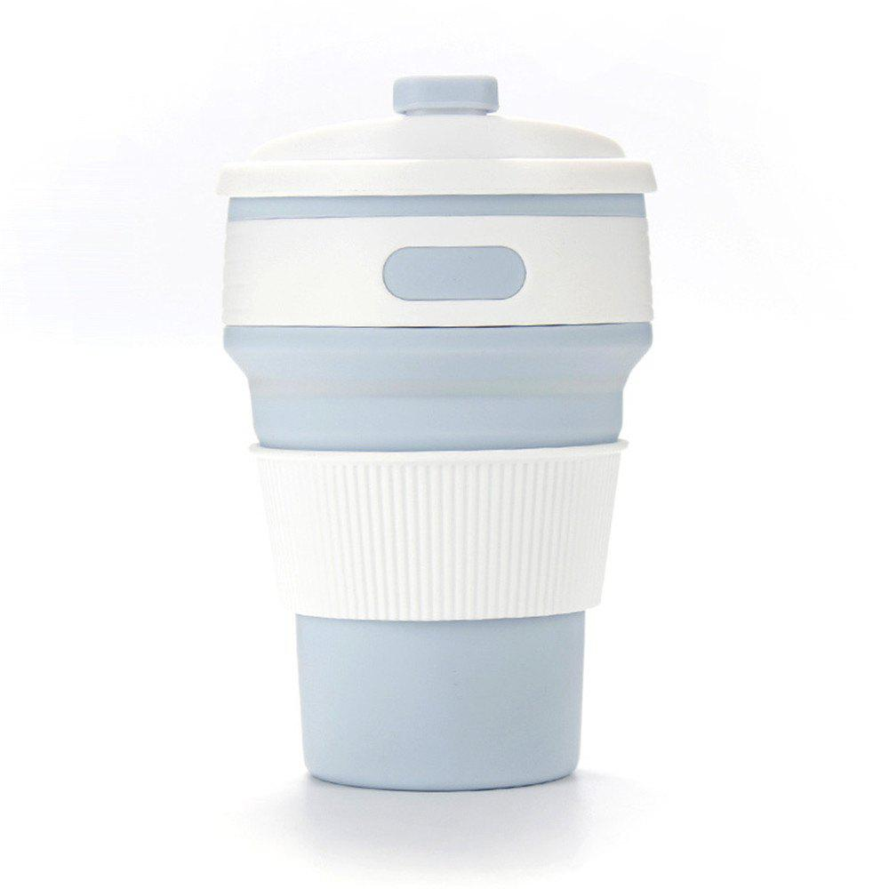 Creative Multifunctional Silicone Portable Folding Cup - BABY BLUE