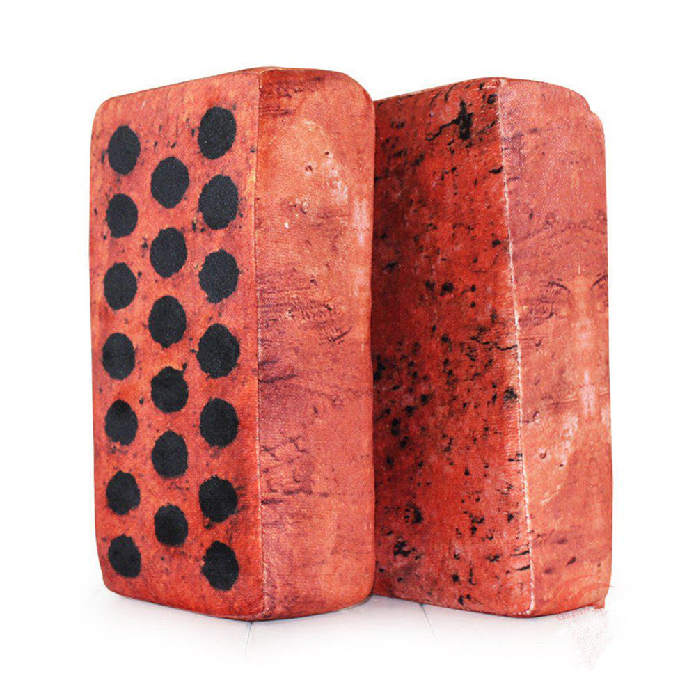 Sponge Funny Lifelike Simulation Tile Brick - RED WINE