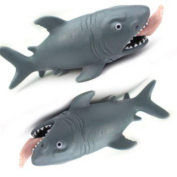 Shark Squeeze Squishy Light Hearted Stress Reliever Decor Antistress Toy - GRAY