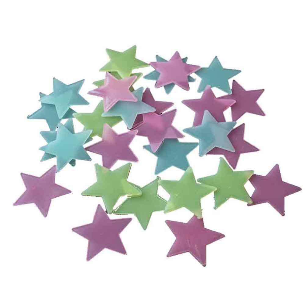 100PCS Fluorescent Star Patch Plastic Stereo PP Night Light Wall Stickers 100pcs 2ml polypropylene pp centrifuge tubes