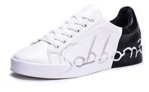 Spring New Couple Color Board Shoes - BLACK 42