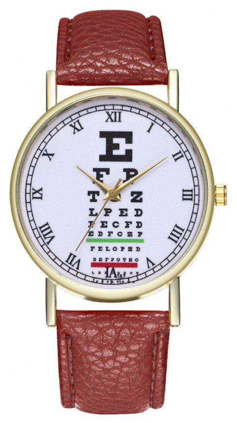 Zhoulianfa Eye Chart Poster Illustration of Leather Watch - COFFEE
