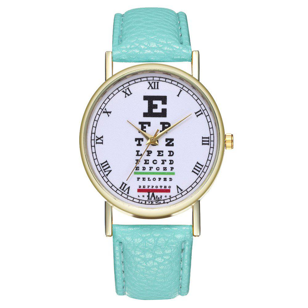 Zhoulianfa Eye Chart Poster Illustration of Leather Watch - MINT GREEN