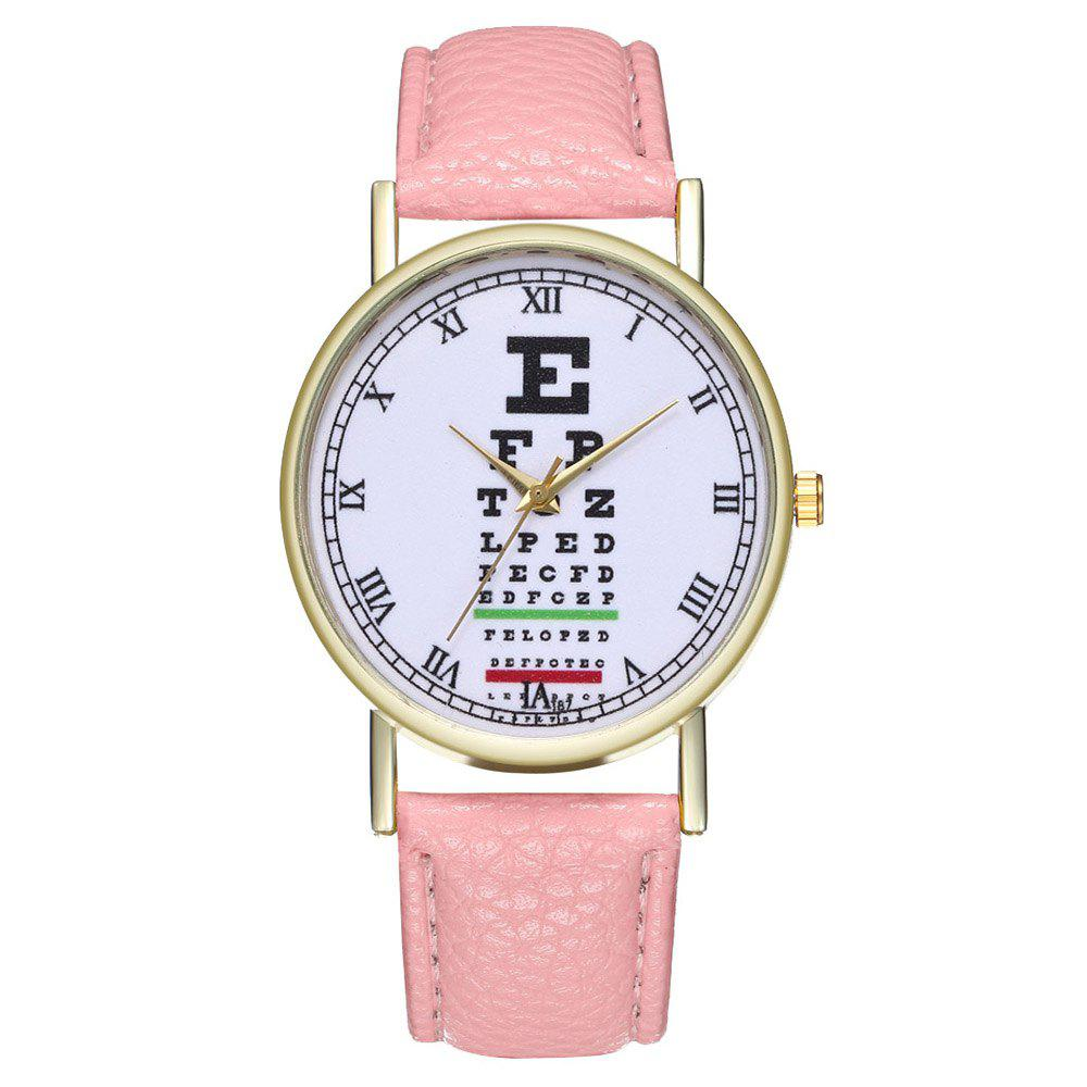 Zhoulianfa Eye Chart Poster Illustration of Leather Watch - PINK