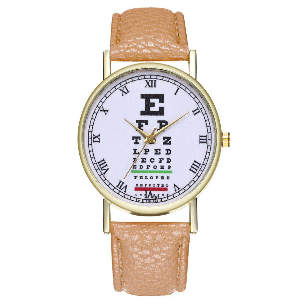Zhoulianfa Eye Chart Poster Illustration of Leather Watch - BEIGE