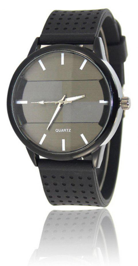 Simple Creative Personality Sports Casual Silicone Belt Quartz Watch - GRAY