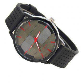 Simple Creative Personality Sports Casual Silicone Belt Quartz Watch - RED