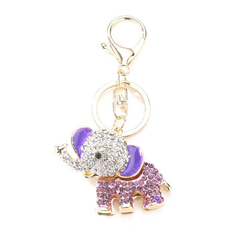 Creative Elephant Shape Pendant Ornaments Key Chain - LILAC