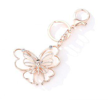 Creative Butterfly Shape Pendant Ornaments Key Chain - multicolor