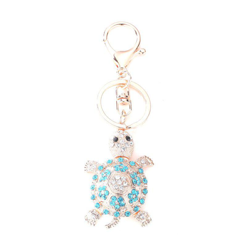 Creative Tortoise Shape Pendant Ornaments Key Chain - BLUE LAGOON