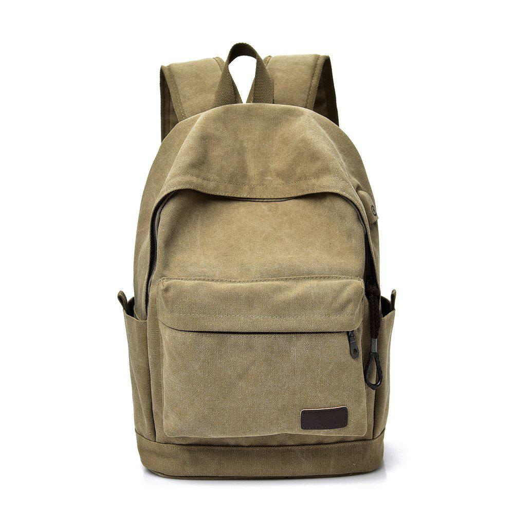 Canvas Simple Wild Large Capacity Outdoor Travel Backpack - TIGER ORANGE