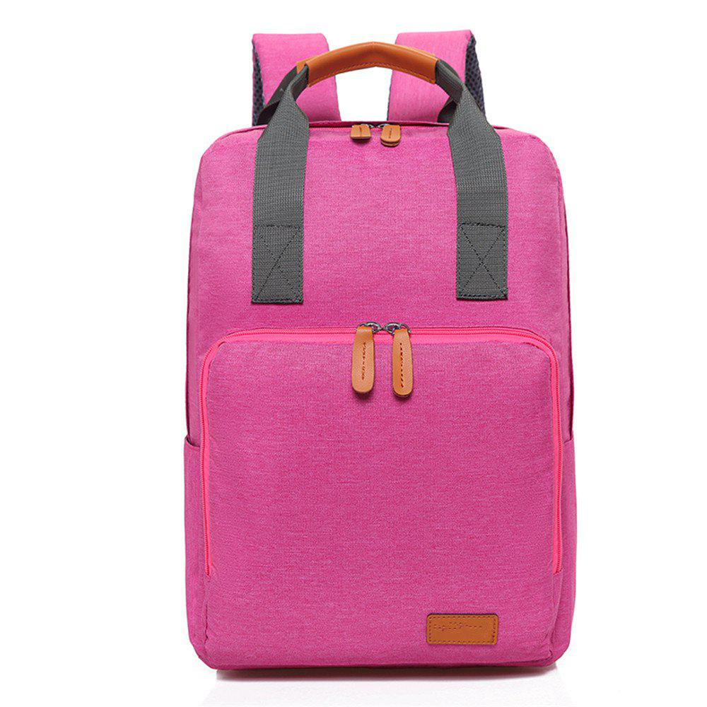 Canvas Fashion Simple High-Capacity Travel Computer Backpack - DIMORPHOTHECA MAGENTA