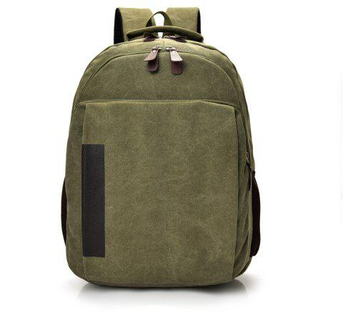 Canvas Fashion Simple Travel Backpack - PINE GREEN