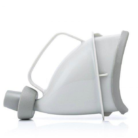 Portable Multifunctional Outdoor Female Stand Emergency Urinal - LIGHT GRAY