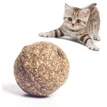 Pet Cat Catnip naturel Treat balle faveur Accueil Chasing Toys sain comestible Tr Tr - café