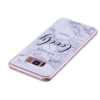 Ultra Thin Lovely Characters Fashion Marble Soft TPU Case for Samsung Galaxy S8 - WHITE