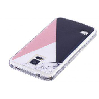 Mixed Color Mosaic Fashion Marble  Soft TPU Phone Case For Samsung Galaxy S5 - WHITE