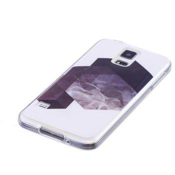 Diamond Lattice Mosaic Fashion Marble Soft TPU Phone Case For Samsung Galaxy S5 - WHITE