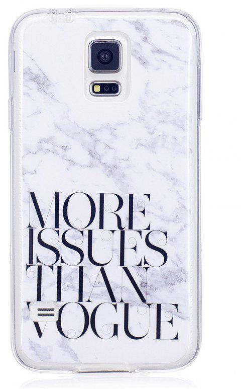 Vogue Characters Fashion Marble Soft TPU Phone Case for Samsung Galaxy S5 - WHITE