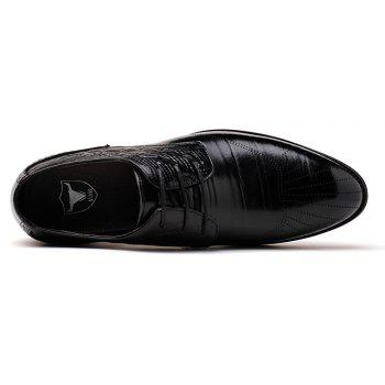 New Head Layer Cowhide Fashion Sport Men's Casual Shoes - BLACK 38