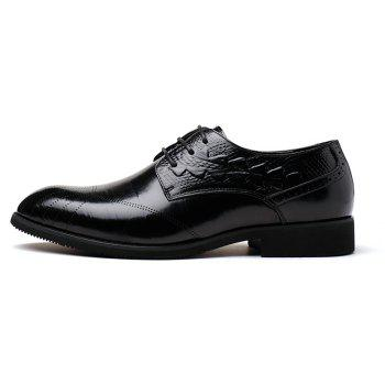 New Head Layer Cowhide Fashion Sport Men's Casual Shoes - BLACK 41