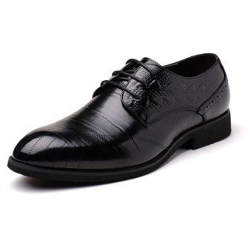 New Head Layer Cowhide Fashion Sport Men's Casual Shoes - BLACK 40