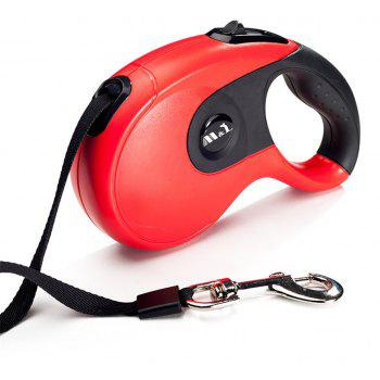 5M Large Retractable for Dogs Puppy Pet Lead Dog Collar Traction Rope Chain - RED