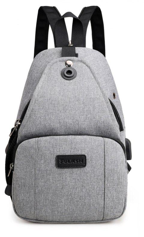 Backpacks USB Charging Men Laptop Travel Bags Fashion Male - GRAY CLOUD