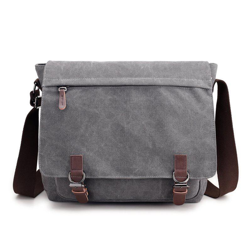 DA1455 Shoulder Bag Canvas Fashion - LIGHT GRAY