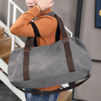 Canvas Business Casual Travel Tool Man'S Single Shoulder Handbag - GRAY
