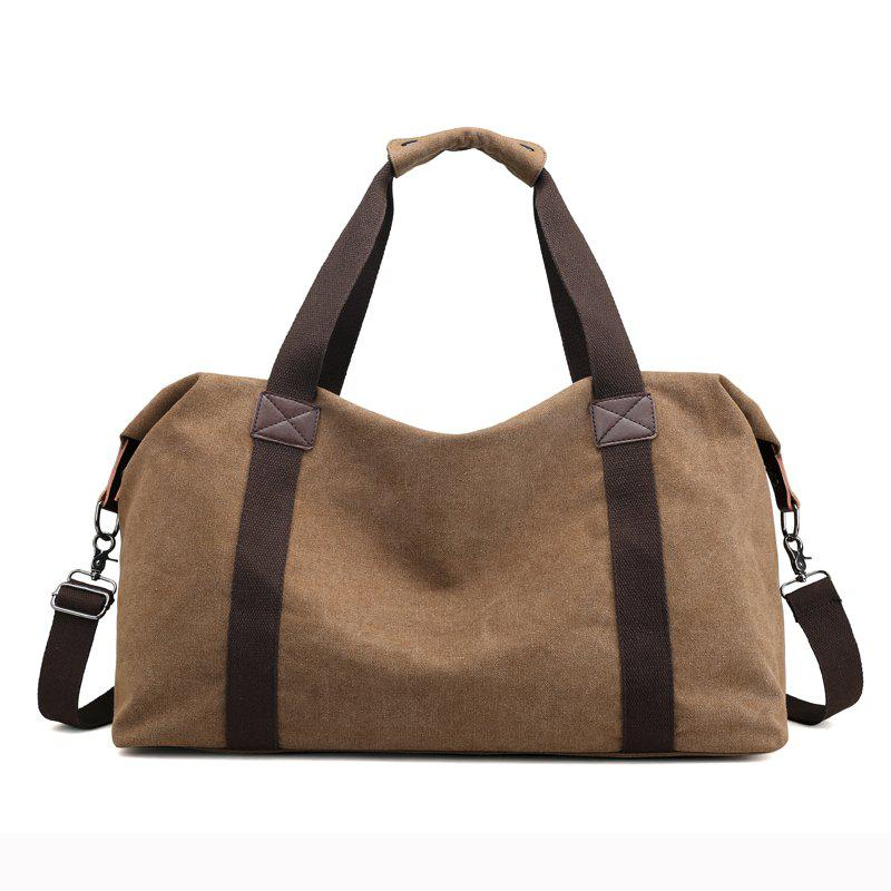 Canvas Business Casual Travel Tool Man'S Single Shoulder Handbag - COFFEE
