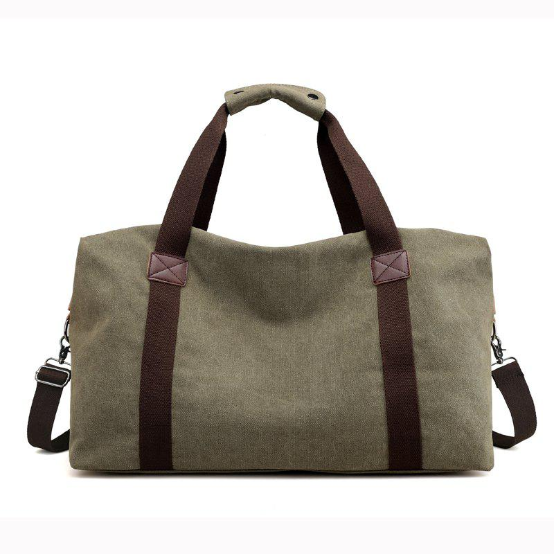 Canvas Business Casual Travel Tool Man'S Single Shoulder Handbag - CAMOUFLAGE GREEN